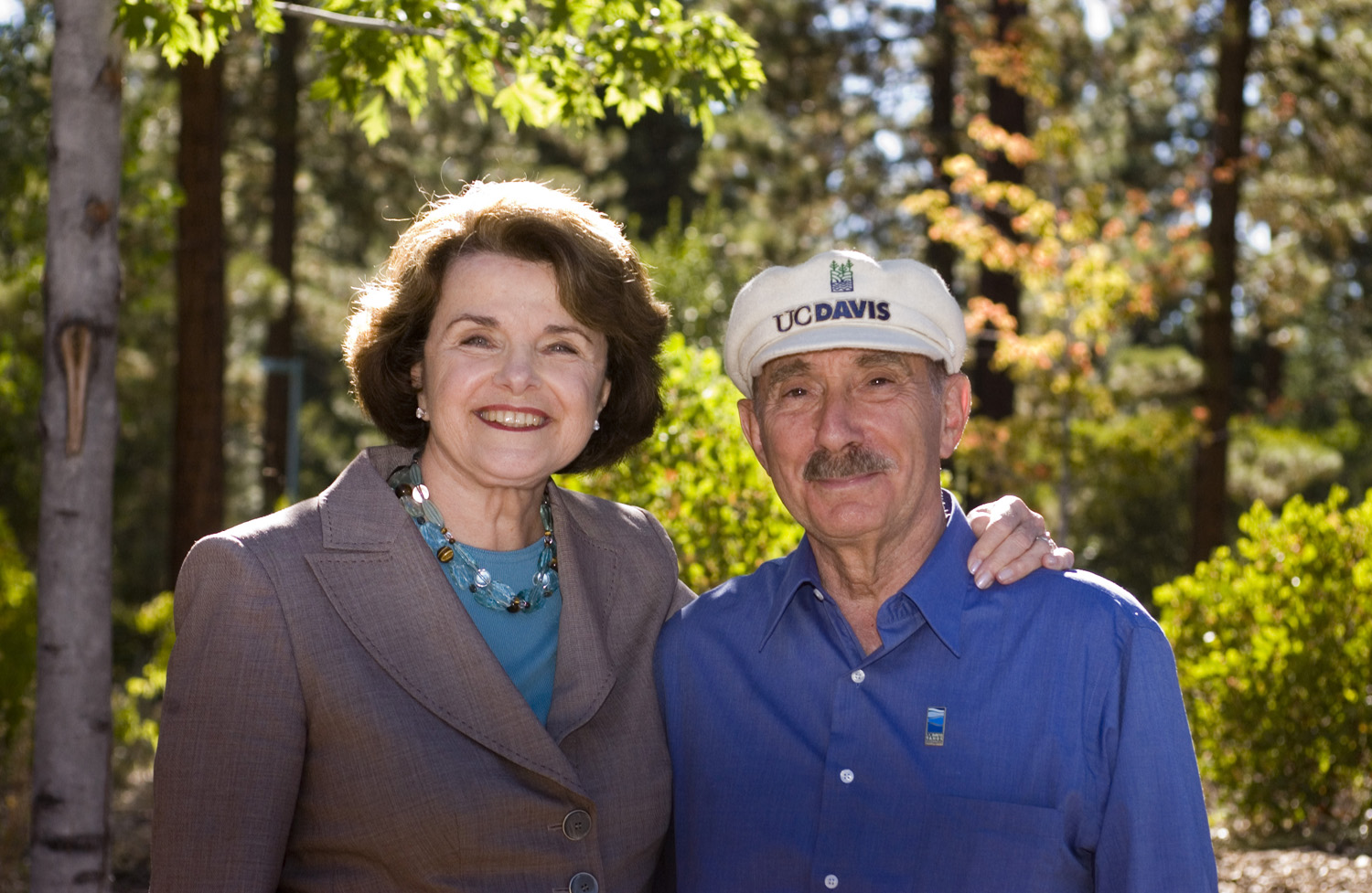 Charles Goldman and Diane Feinstein