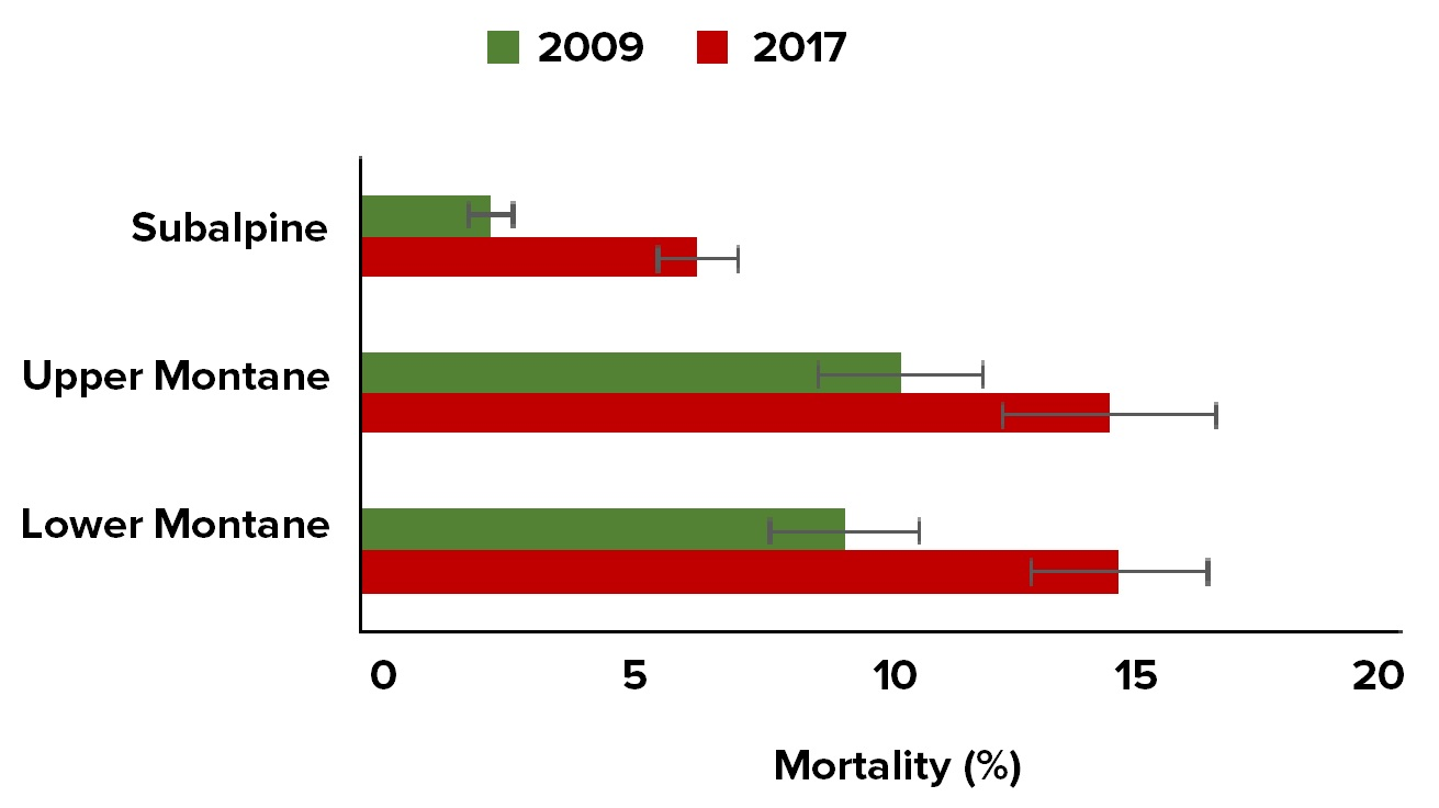 Average tree mortality