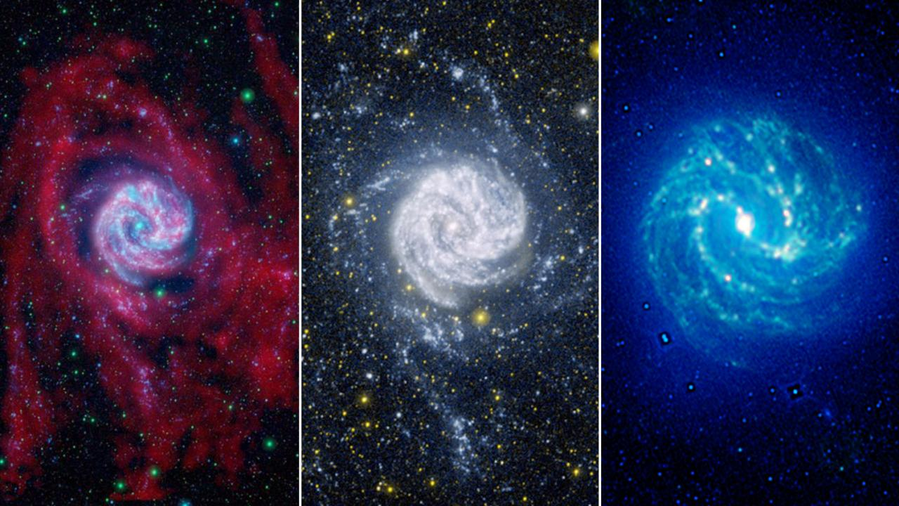 red, white, and blue of space photography