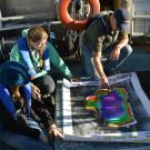 Docents in training on the TERC research vessel